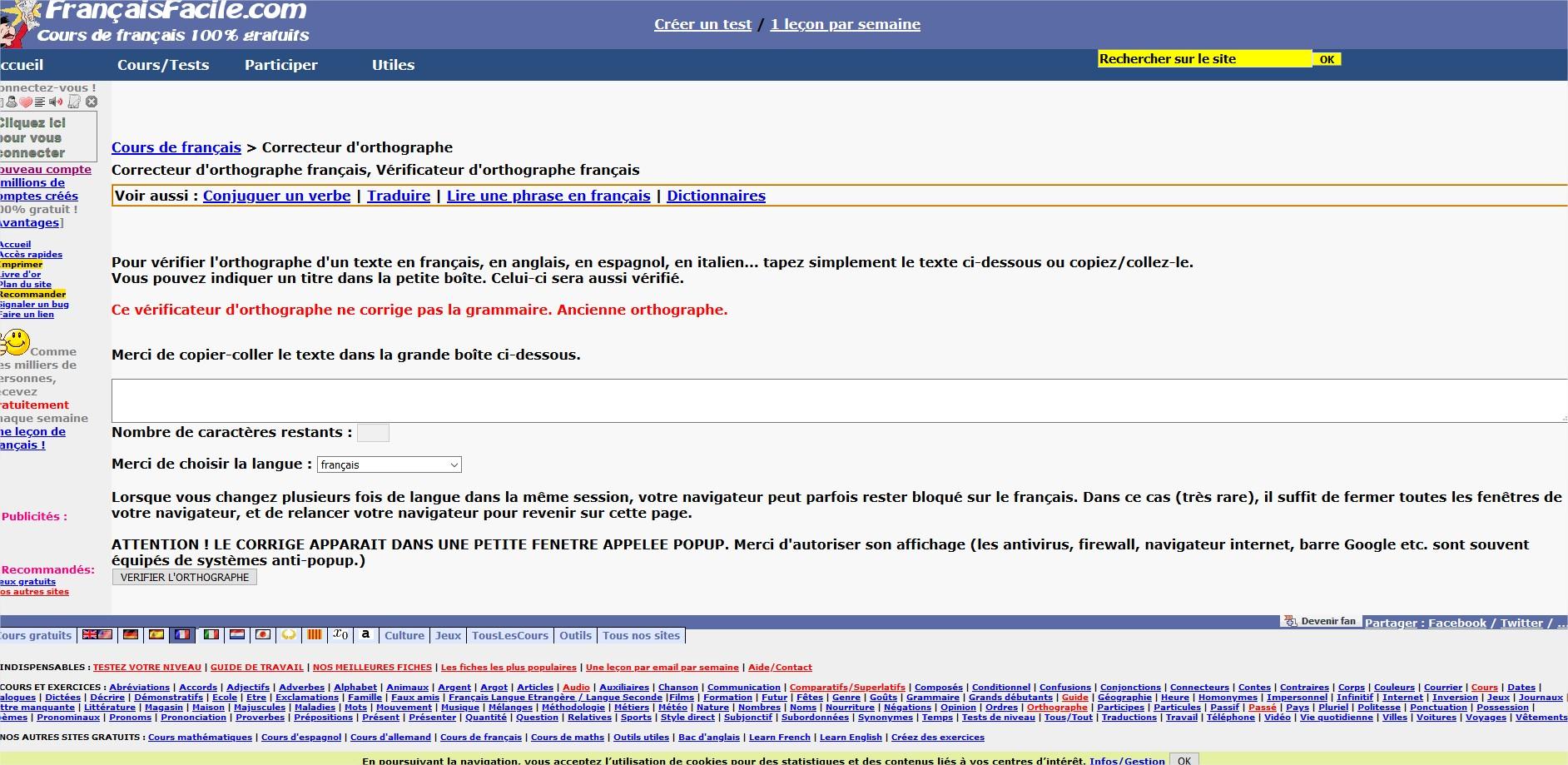 Francais-Facile-com-Verificateur-Orthographique-Gratuit