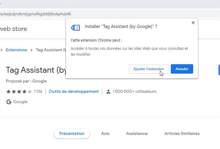 Google Tag Assistant Installer