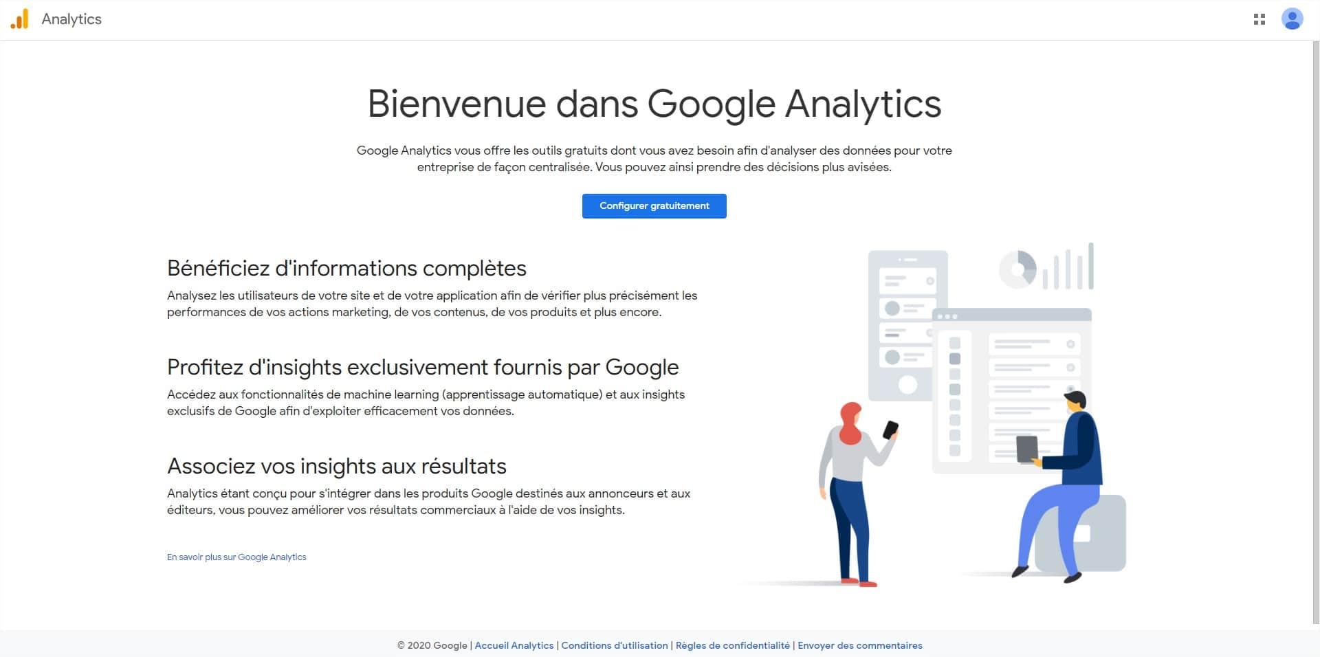 Configurer Google Analytics