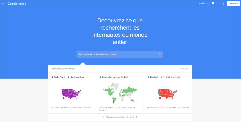 Google Trends connexion