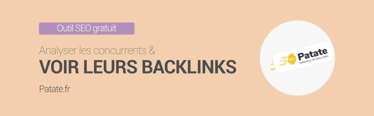 Patate.fr analyse de backlinks gratuits